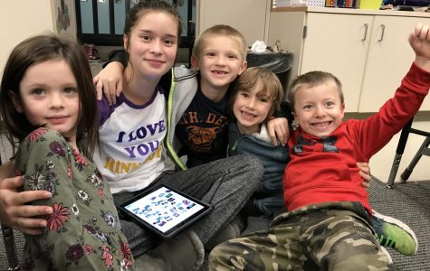 R.A.K. students, also in Valley's Leadership class, help out their South View Word Study Buddies.