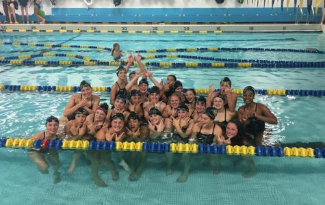 Middle schoolers dive into high school swimming