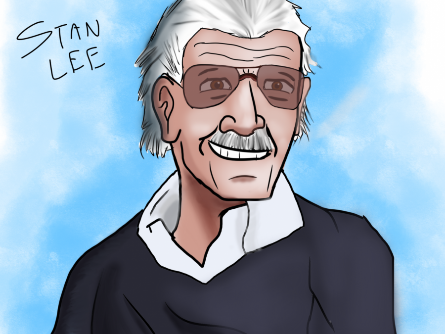"""""""The Man Who Inspired Millions""""  Artist Statement: It has been 2 years after his death, he will be remembered forever, he will never be forgotten. Stan Lee has not only inspired me to do art and draw superheroes, he inspired many people throughout the years. Thanks to Stan Lee, I have wanted to draw not just superheroes, but to draw realistic artwork, and I've been practicing it. I remember the first drawing I did based on Marvel was Spider-Man. I even still have a few of them left. I also still do lots of Spider Man drawings. He may be no longer here in our planet, but he is still here in our hearts. Rest In Peace Stan Lee, 1922-2018."""